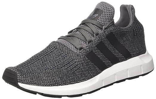 adidas Swift Run Mens Trainers Grey Black - 11 UK