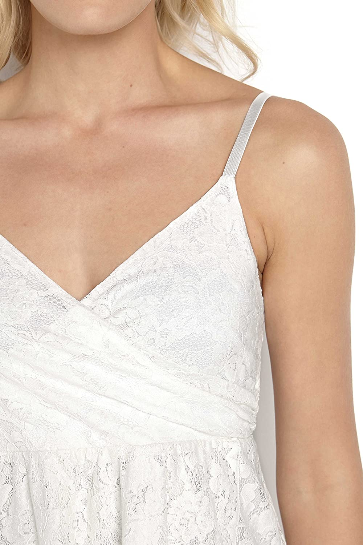 TopsandDresses Ladies Off-White Ivory Lace Strappy Dress In UK Sizes 6-22:  Amazon.co.uk: Clothing
