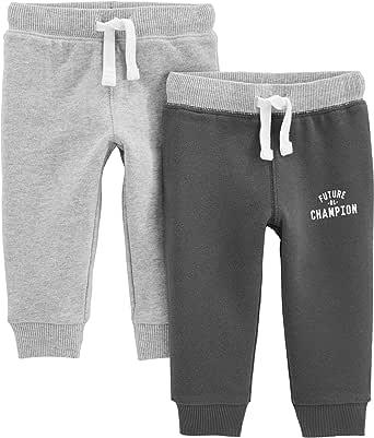 Simple Joys by Carter's Pantalones Deportivos de Punto atlético Bebé-Niños, Pack de 2
