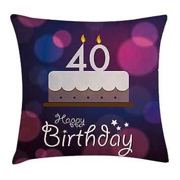 Amazon.com: 40 cumpleaños, para el hogar o la oficina, en ...