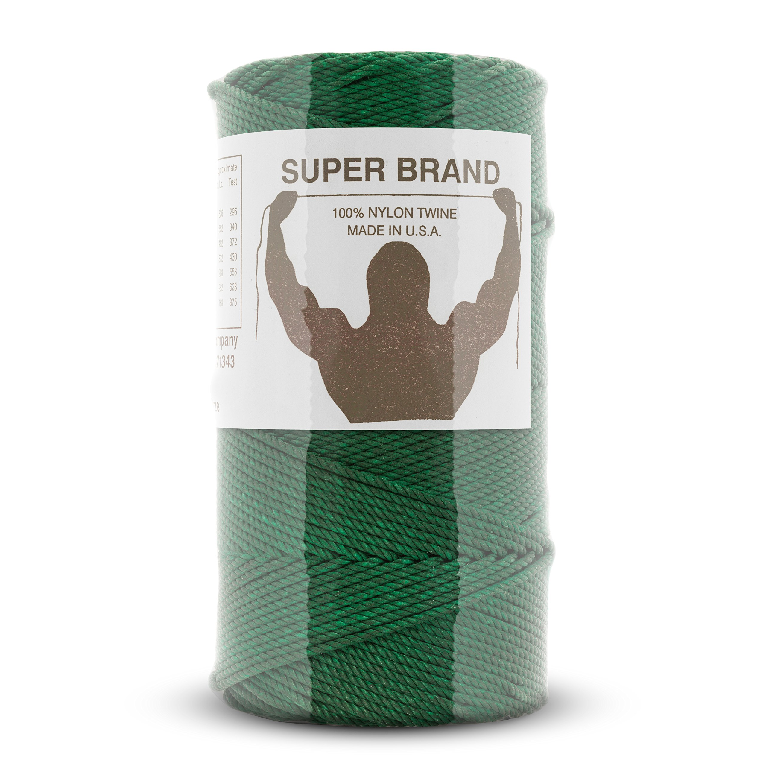 Bonded Green Nylon Twine, Twisted. Size #42, 1/4 lb 3-pack