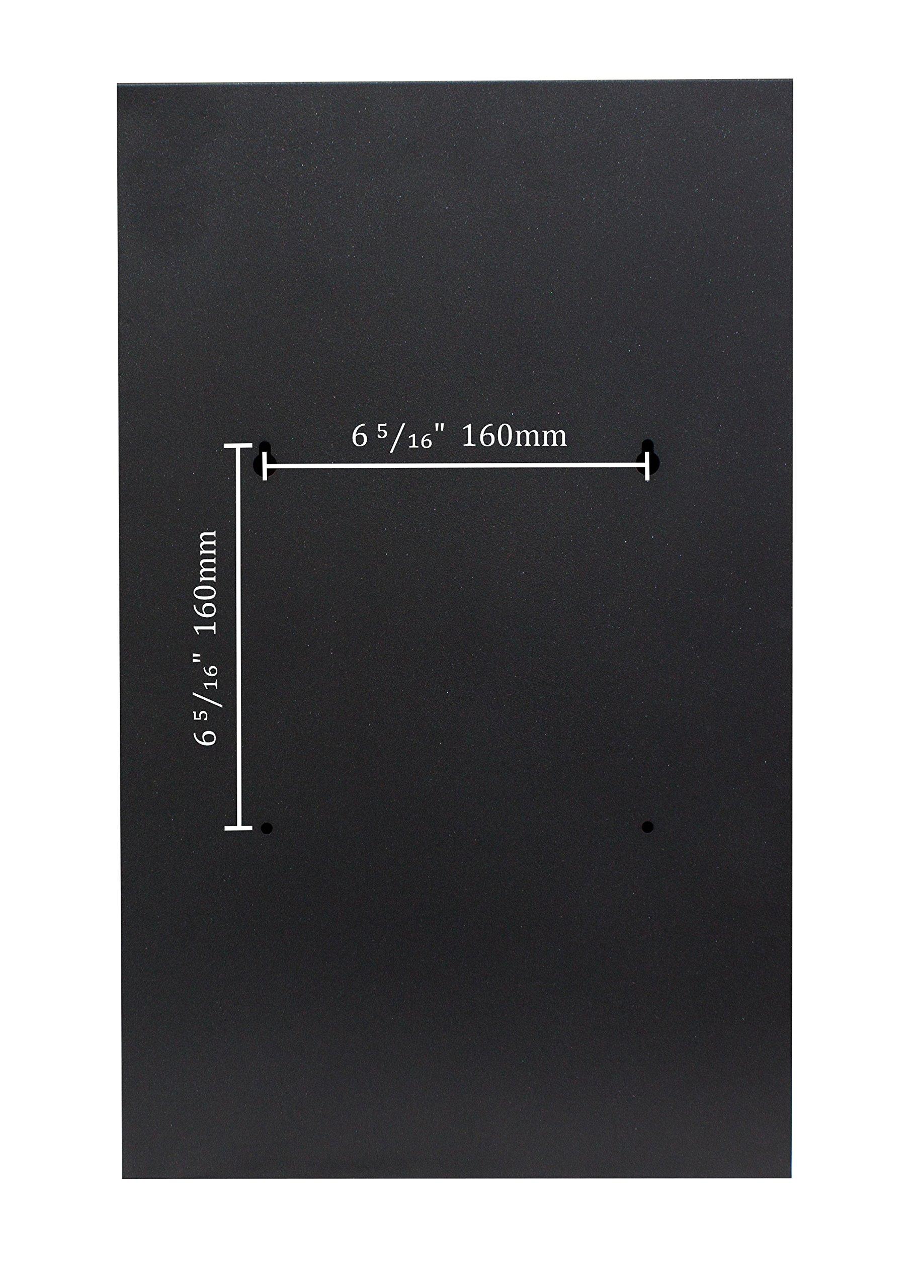 Qualarc WF-PM18 Verse Wall Mount Rectangular Stainless Steel Front Locking Mailbox, Silver/Black by Qualarc (Image #4)