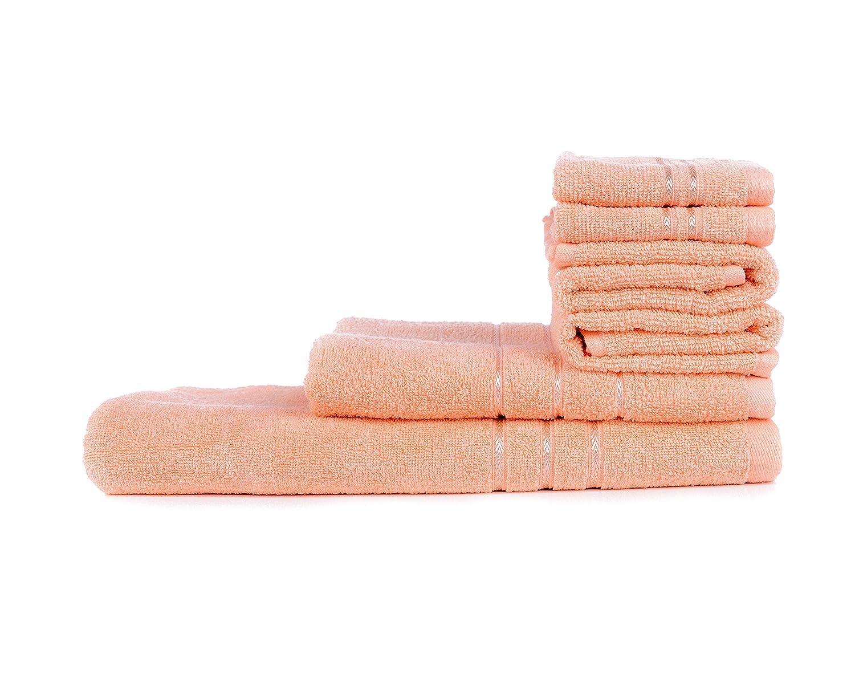 Towel Town Set of 6 Ecospun Towels ( 2FT + 2HT + 2BT ) Peach