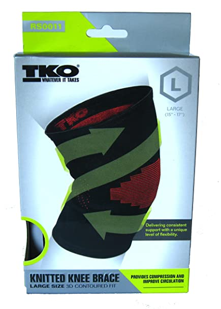 f8ace36ca9 Amazon.com: TKO Knitted Knee Brace 3D Contoured Fit: Sports & Outdoors