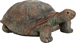 Sunnydaze Talia The Tortoise Garden Statue - Glass Fiber Reinforced Concrete Construction - Indoor/Outdoor Yard Art Decor - Turtle Lawn Ornament - Backyard and Patio Animal Sculpture - 29-Inch