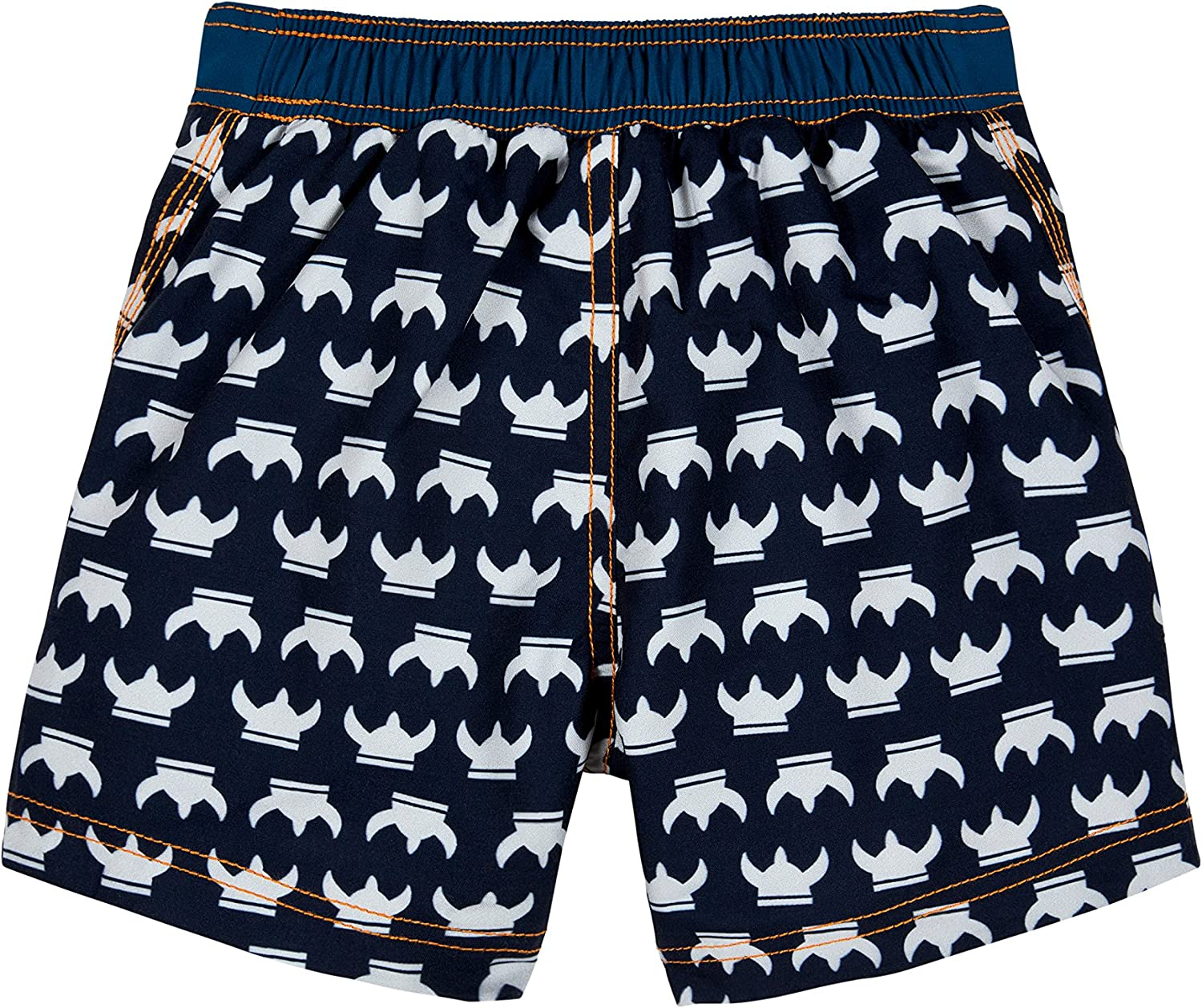 Lassig Splash and Fun Baby Board Shorts boys UV-protection 50+ M//12 Months blue whale