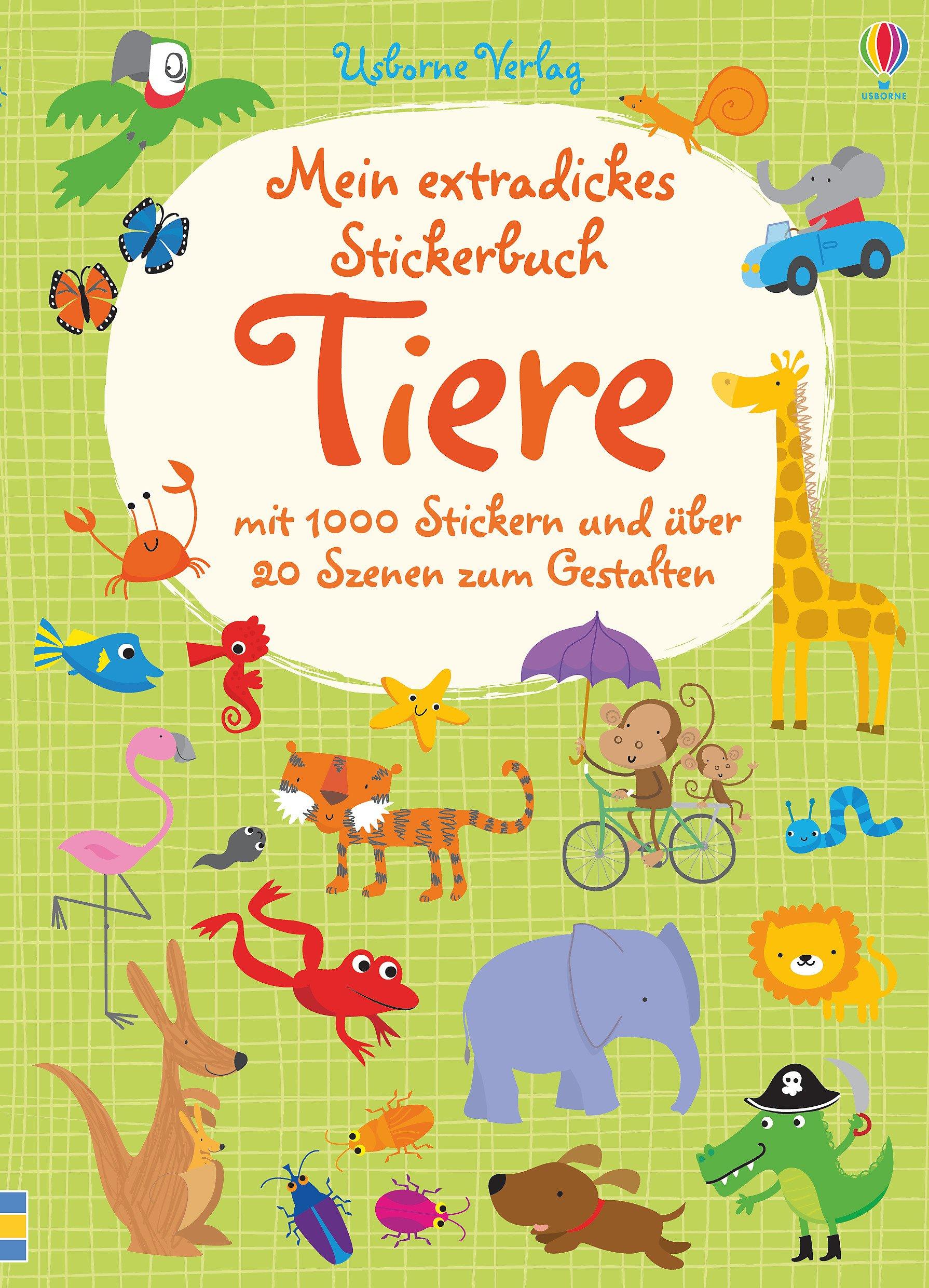 Mein extradickes Stickerbuch: Tiere