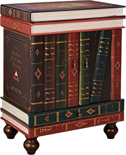 Design Toscano The Lord Byron Vintage Decor Stacked Books End Table Storage  Furniture, 28 Inch