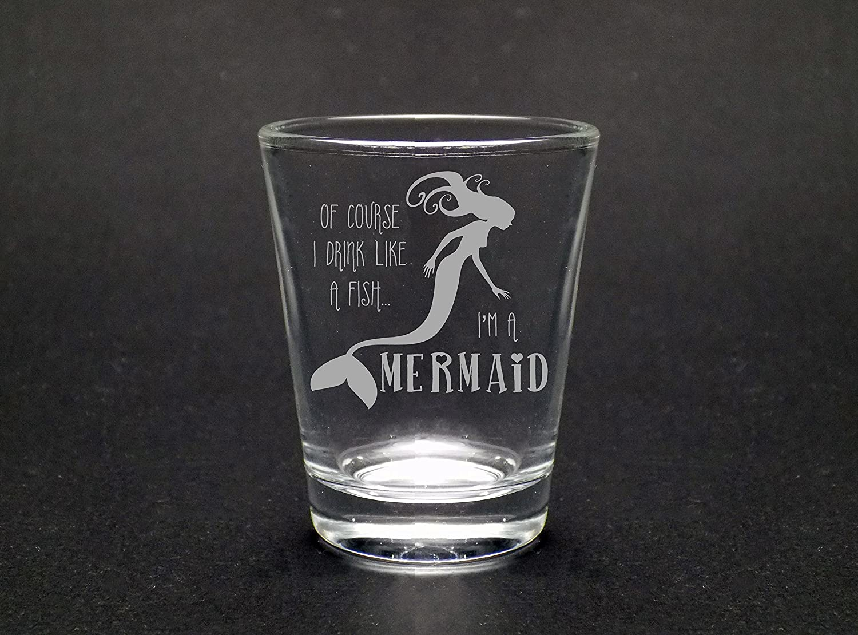 Drink Like A Mermaid 1.75 Oz Shot Glass