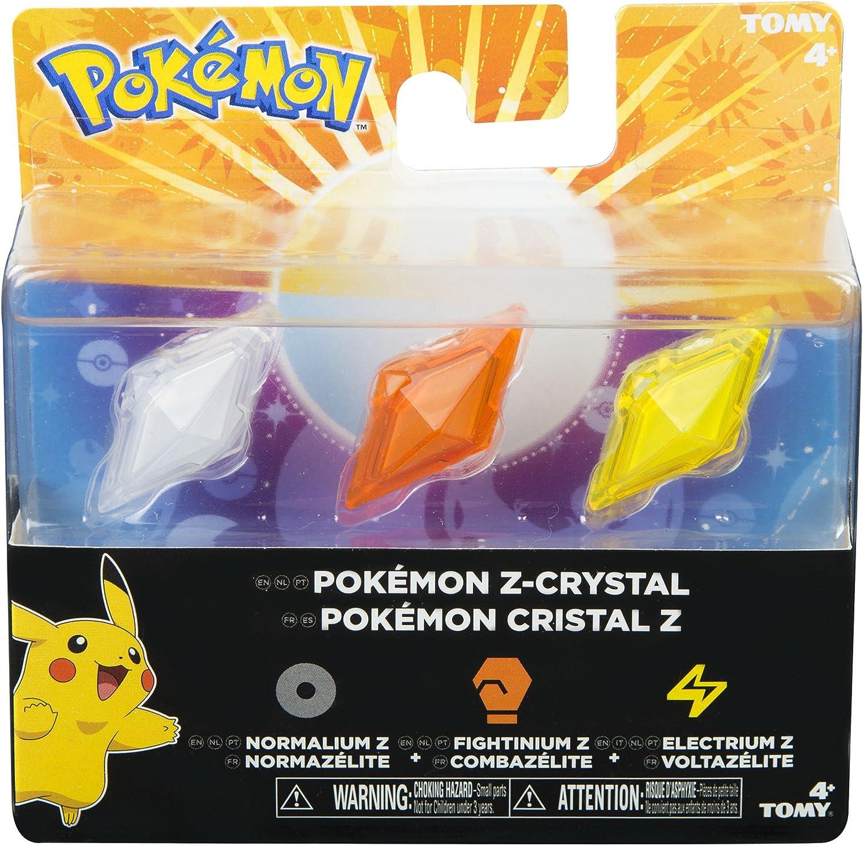 Bizak Pokémon - Pack de 3 Cristales Z-Ring, Normal/Lucha/Electricidad 30699210