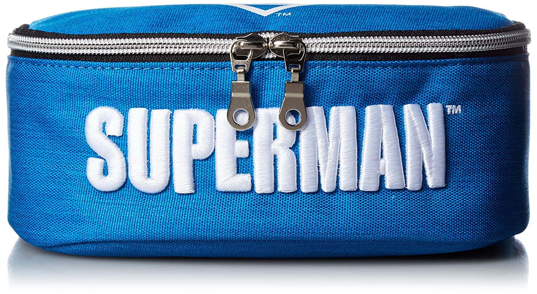 Superman Sm-103B Stifteetui, volle Öffnung, Blau