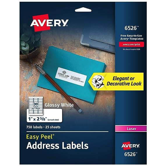 Amazon com : Avery Rectangle Dissolvable Labels, Glossy White