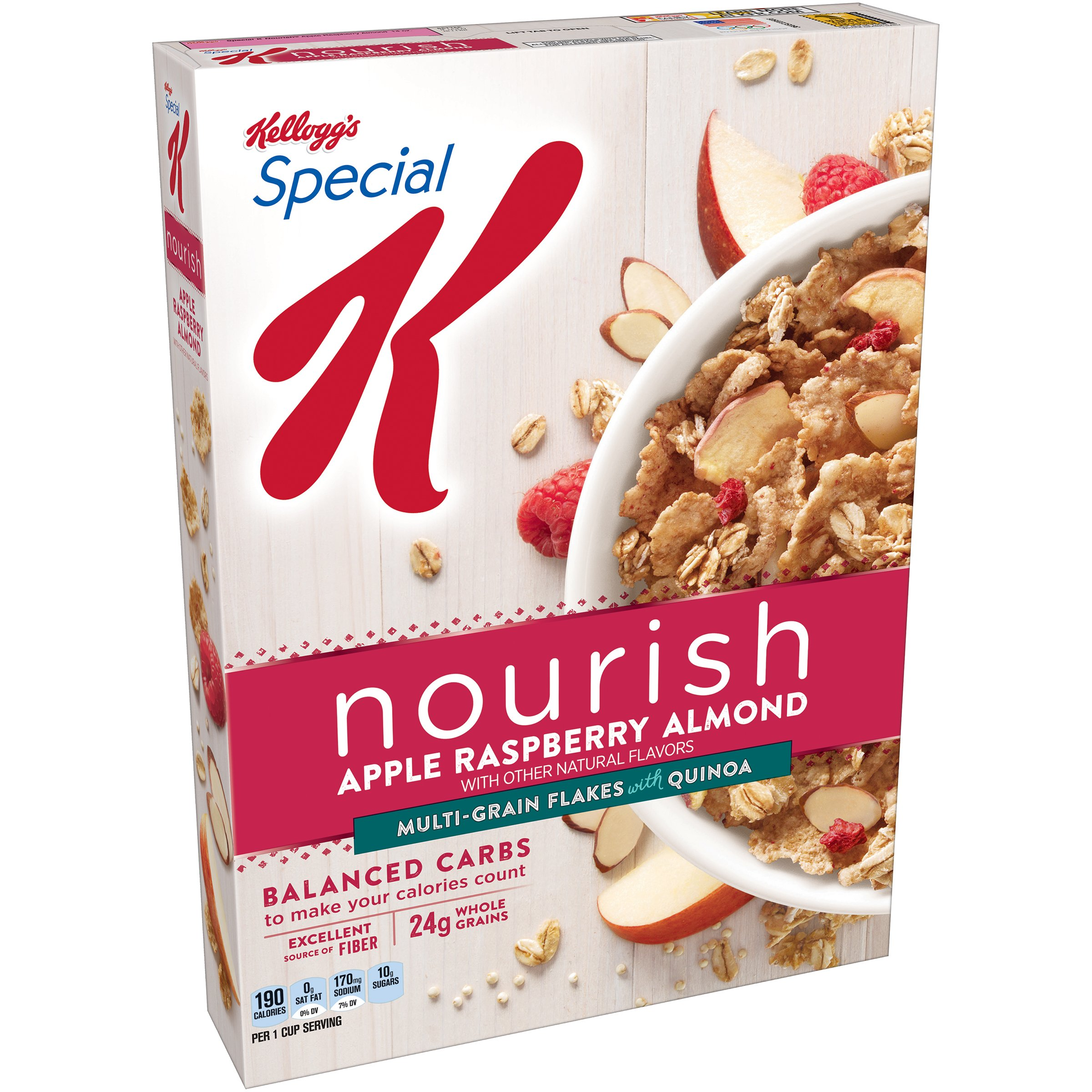 Special K Nourish Cereal, Apple Raspberry Almond, 14 Ounce