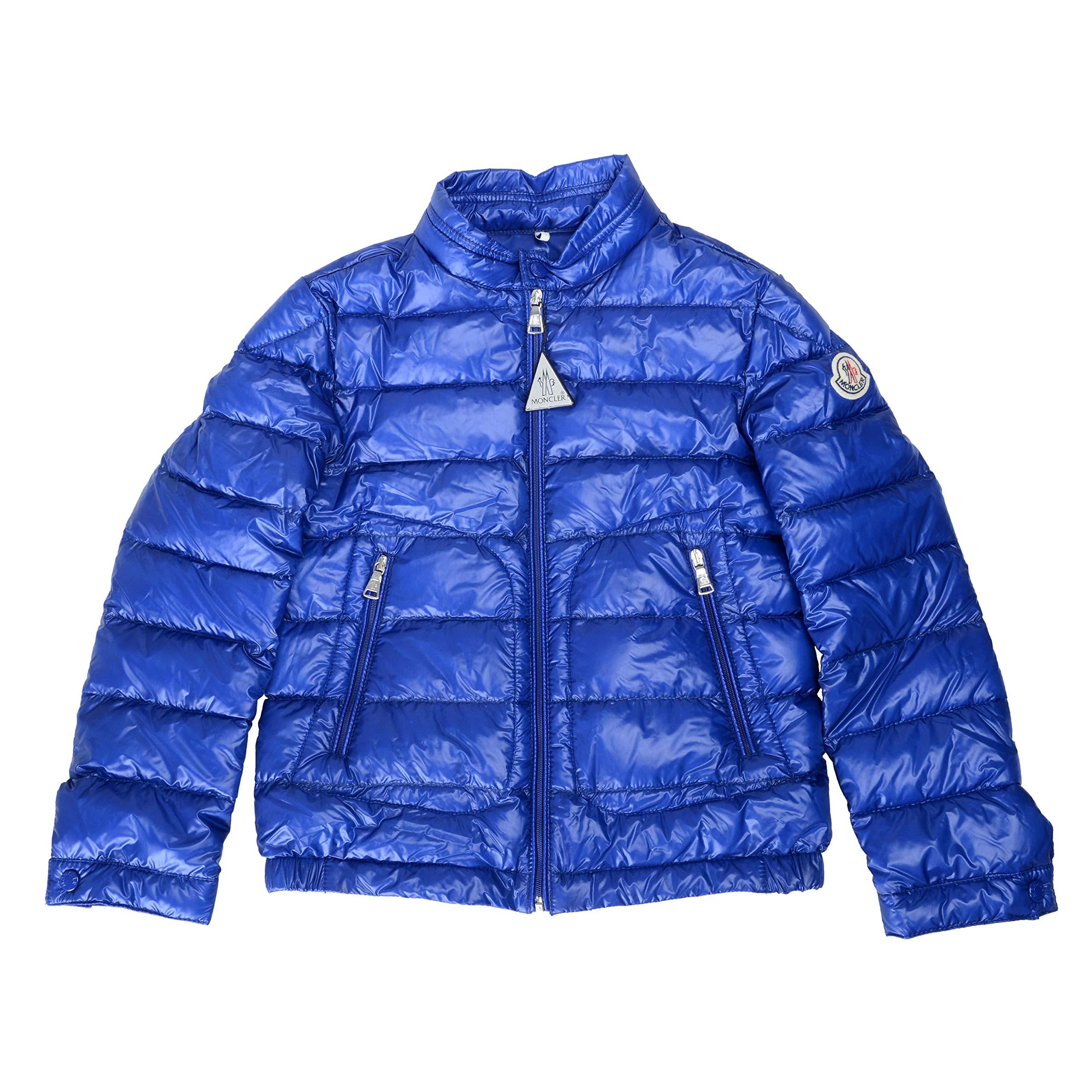 Moncler Kid's ACORUS Blue Down Parka Jacket Moncler Size 8A US 8Years