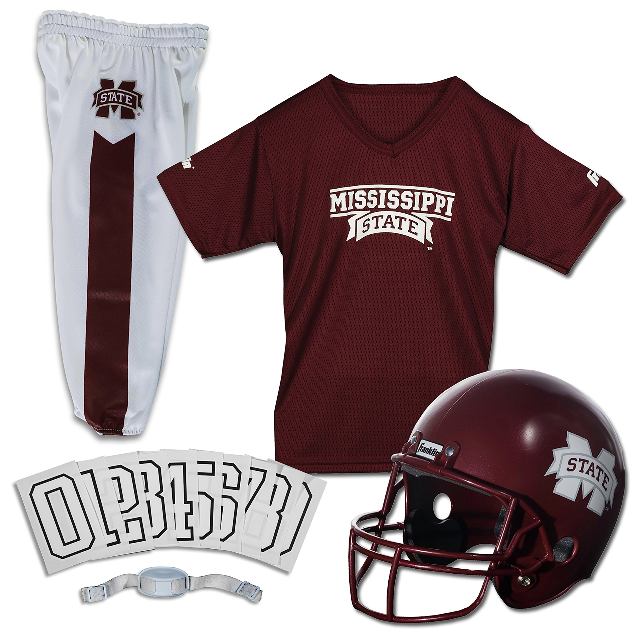 Franklin Sports NCAA Mississippi State Bulldogs Deluxe Youth Team Uniform Set, Small