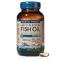 Wiley's Finest Peak EPA 1000mg EPA + DHA Omega-3 Per Softgel - High Potency Wild...