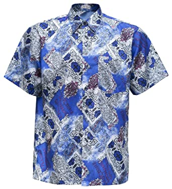 6f21738150d THAI SILK Men s Shirt Short Sleeve Vintage Patterned at Amazon Men s  Clothing store