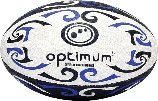 Optimum Tribal Training - Balón de Rugby, tamaño 4, Color Azul ...