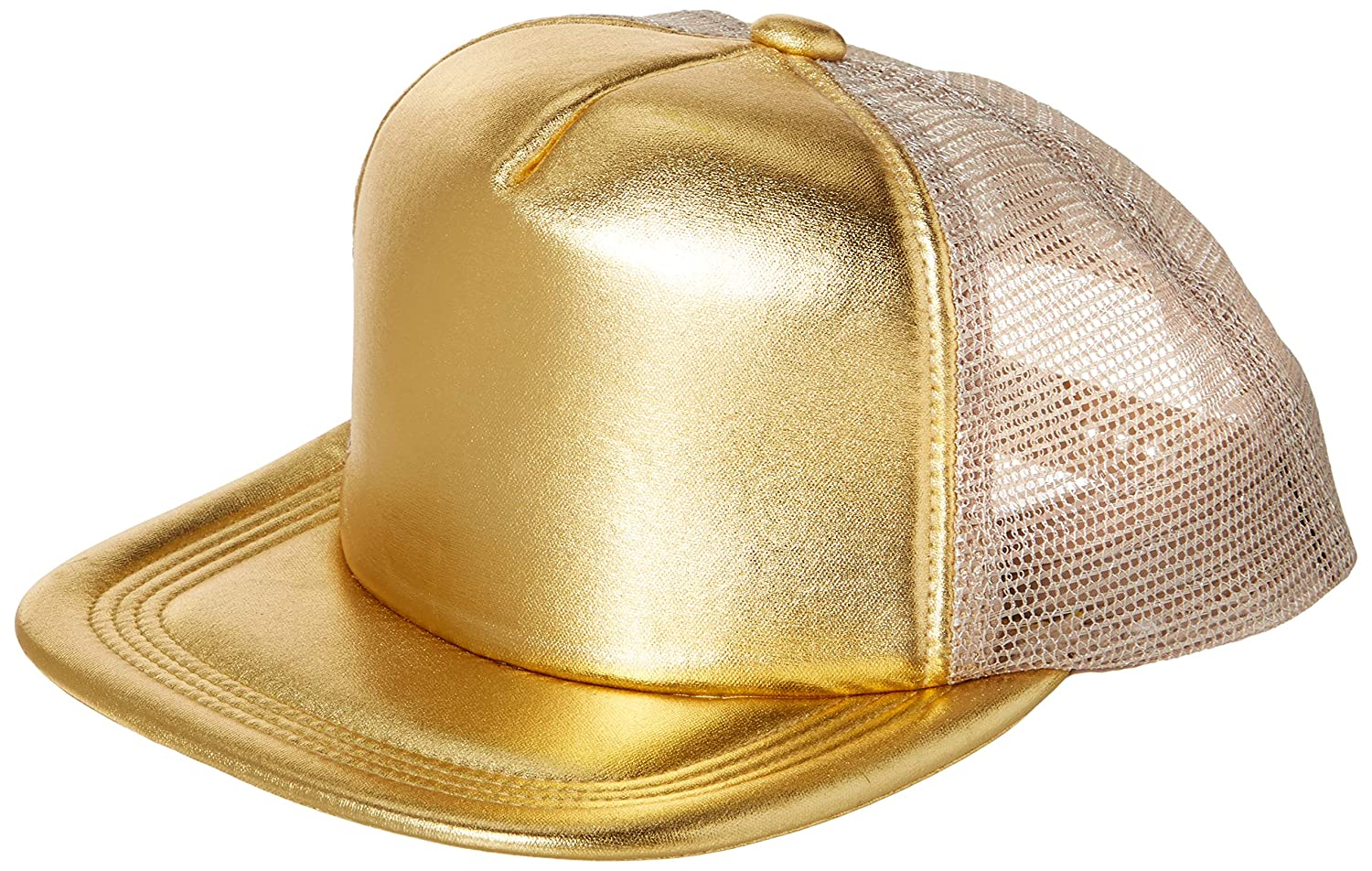 Amazon.com  Amscan 397507.19 Gold Baseball Hat One Size Multicolor  Toys    Games 17a59f7591f3