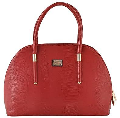 fe964eb767 Gouri Bags Stylish Trendy Red Handbags Shoulder Soft Leather Bag Women  Ladies Girl Purse Office Bag