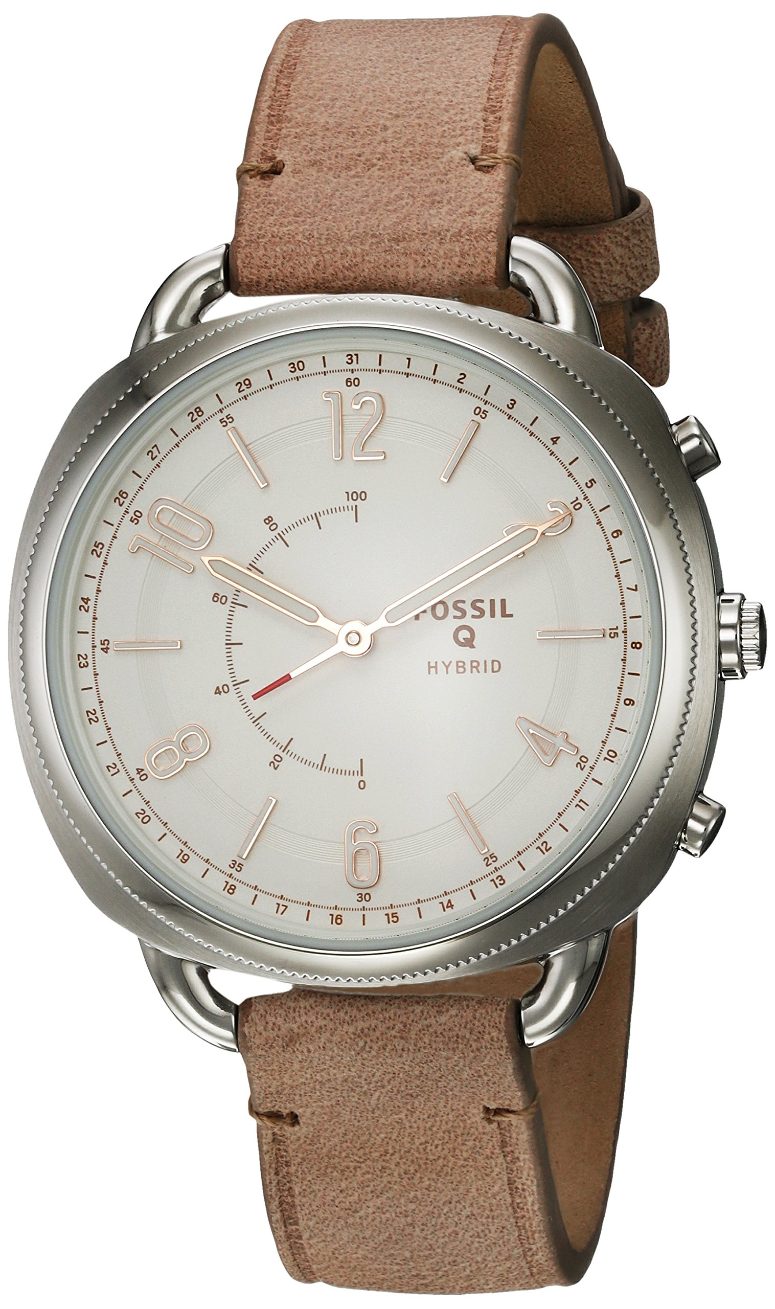 Fossil Women's 'Q Accomplice' Quartz Stainless Steel and Leather Smart Watch, Color:Brown (Model: FTW1200)