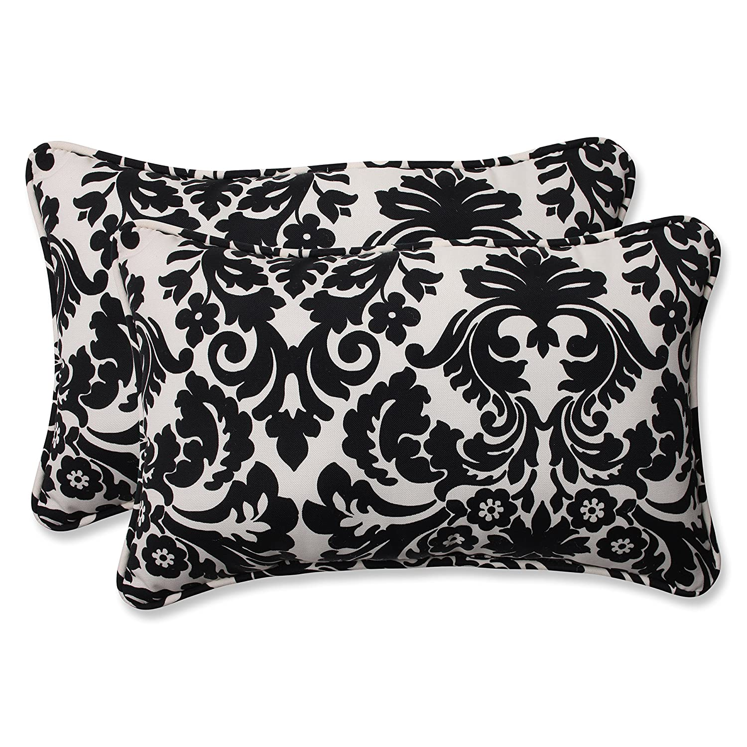 Amazon Pillow Perfect Decorative Black Beige Damask Toss