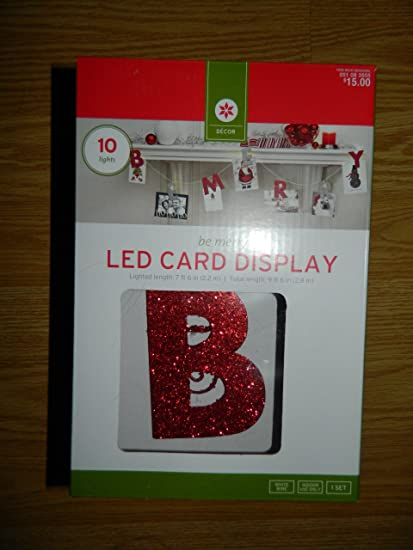 Amazon Com Glitter B Merry Led Christmas Card Display From Target