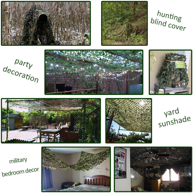 Safari Camping... estor Shooting de caza pamase 210d malla de camuflaje para camuflaje verde
