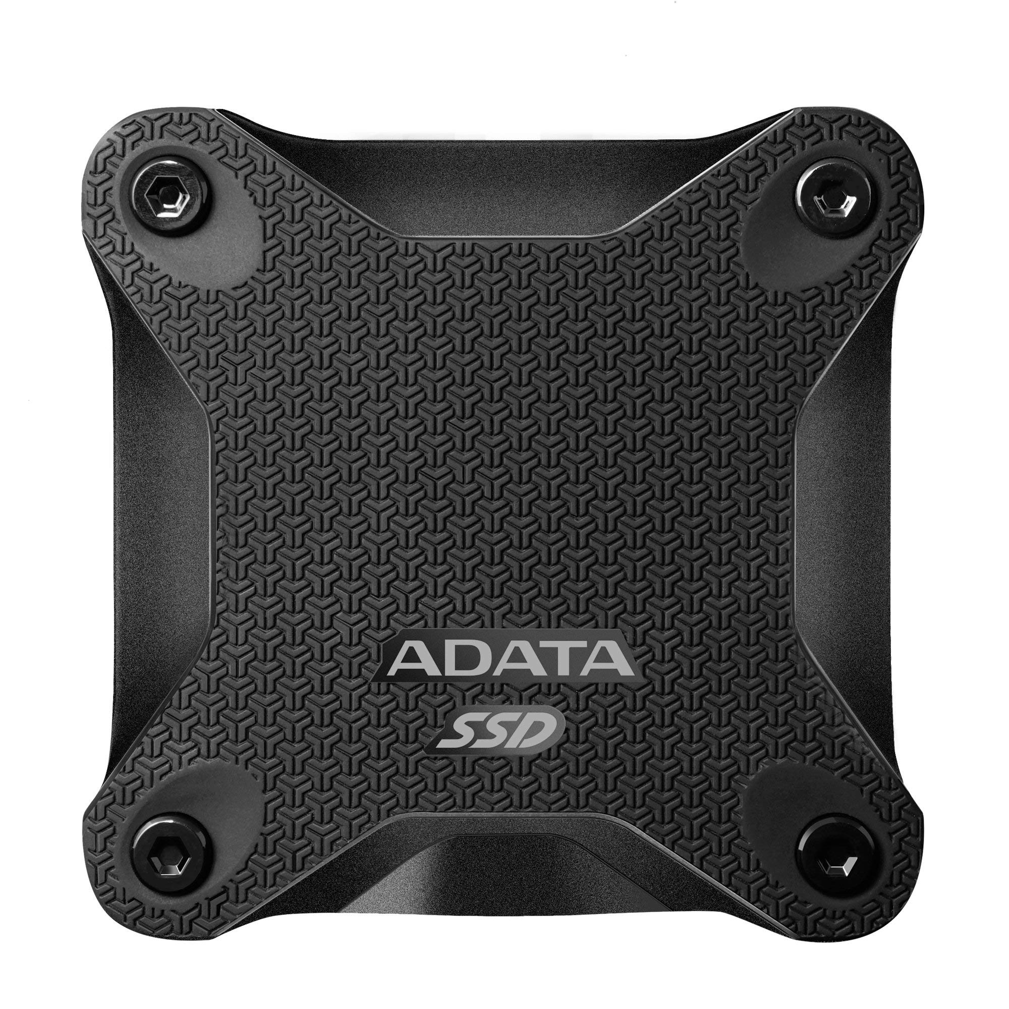 ADATA SD600 3D NAND 512GB USB3.1 Ultra-Speed External Solid State Drive Read up to 440 MB/s Black (ASD600-512GU31-CBK) (Renewed)