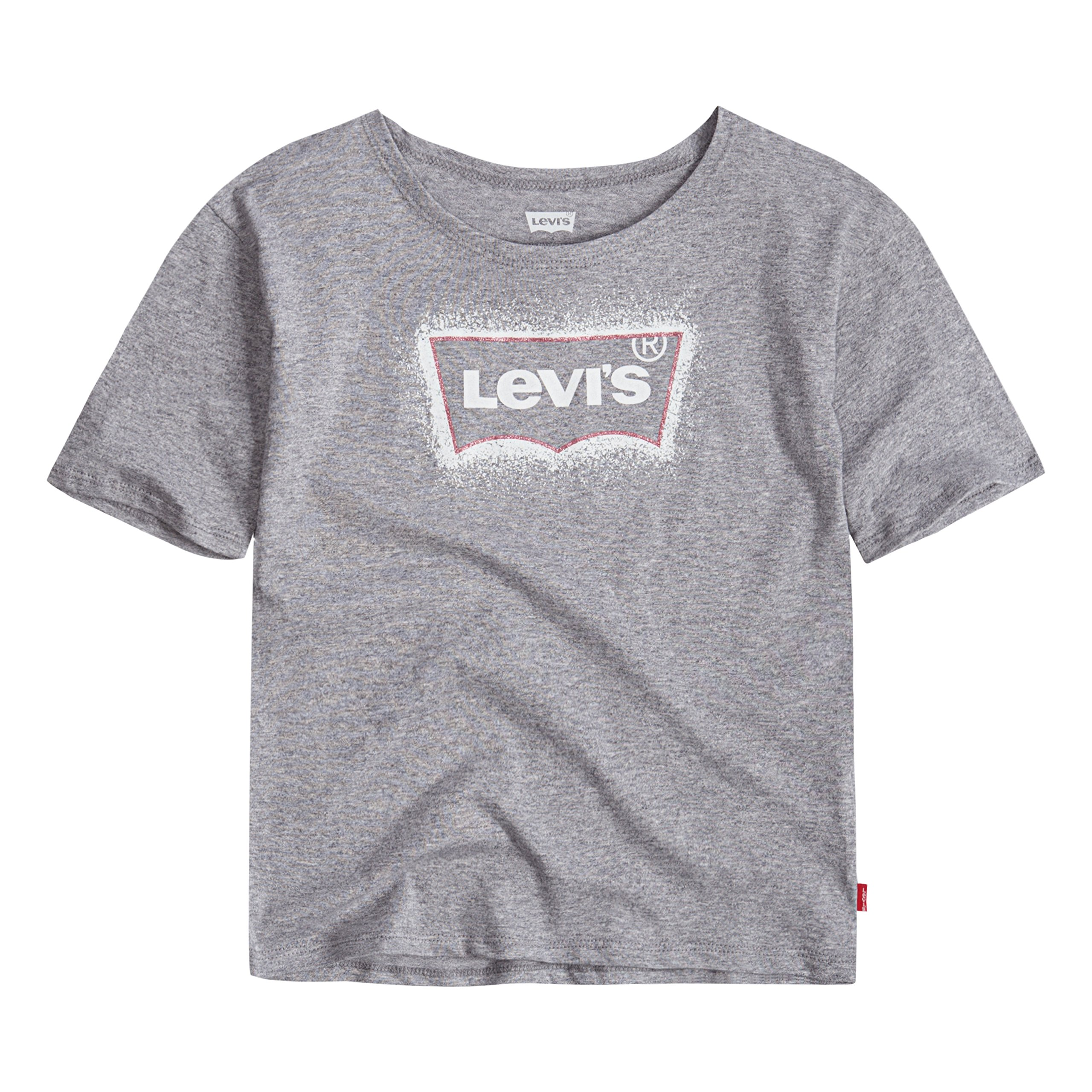 Levi's Girls Batwing T-Shirt, Marled Grey, XL