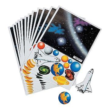 Amazon.com: Fun Express Make Your Own Solar System Sticker (1 ...