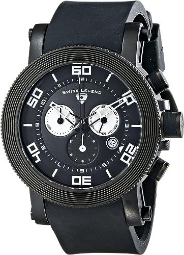 Amazon Com Swiss Legend Men S 30465 Bb 01 Wa Cyclone Analog Display Swiss Quartz Black Watch Watches
