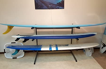 Stoneman Sports 3 Paddleboard and surfboard Storage Rack and Display Stand