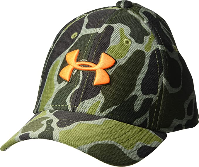 New Under Armour Boy/'s Novelty Flat Brim Cap Black //Glacier Gray Baseball Hat