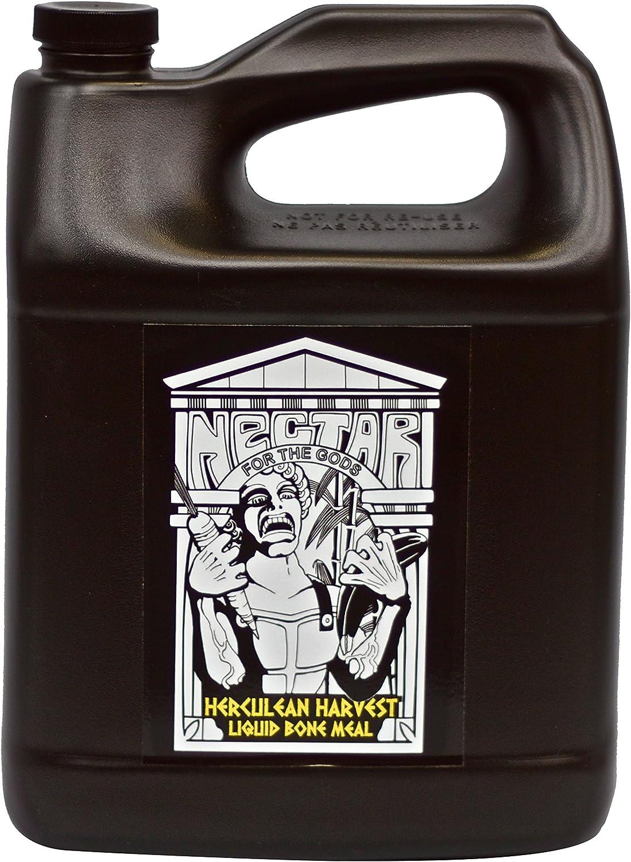 Nectar for the Gods 746242 Herculean Harvest, 1 gal Plant Nutrient, 1 Gallon 128 Ounces, Black