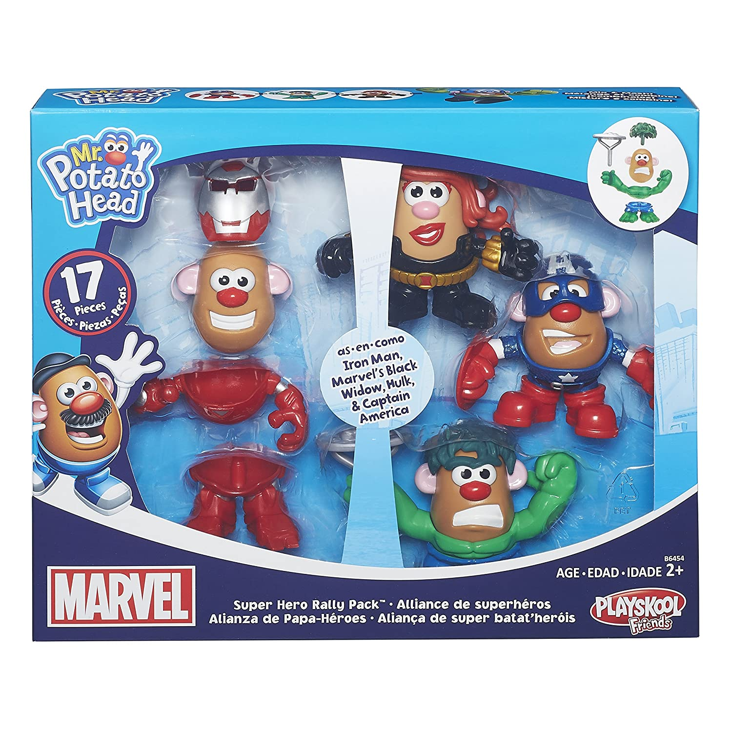 Playskool Friends Mr. Potato Head Marvel Super Rally Pack by Mr Potato Head: Amazon.es: Juguetes y juegos