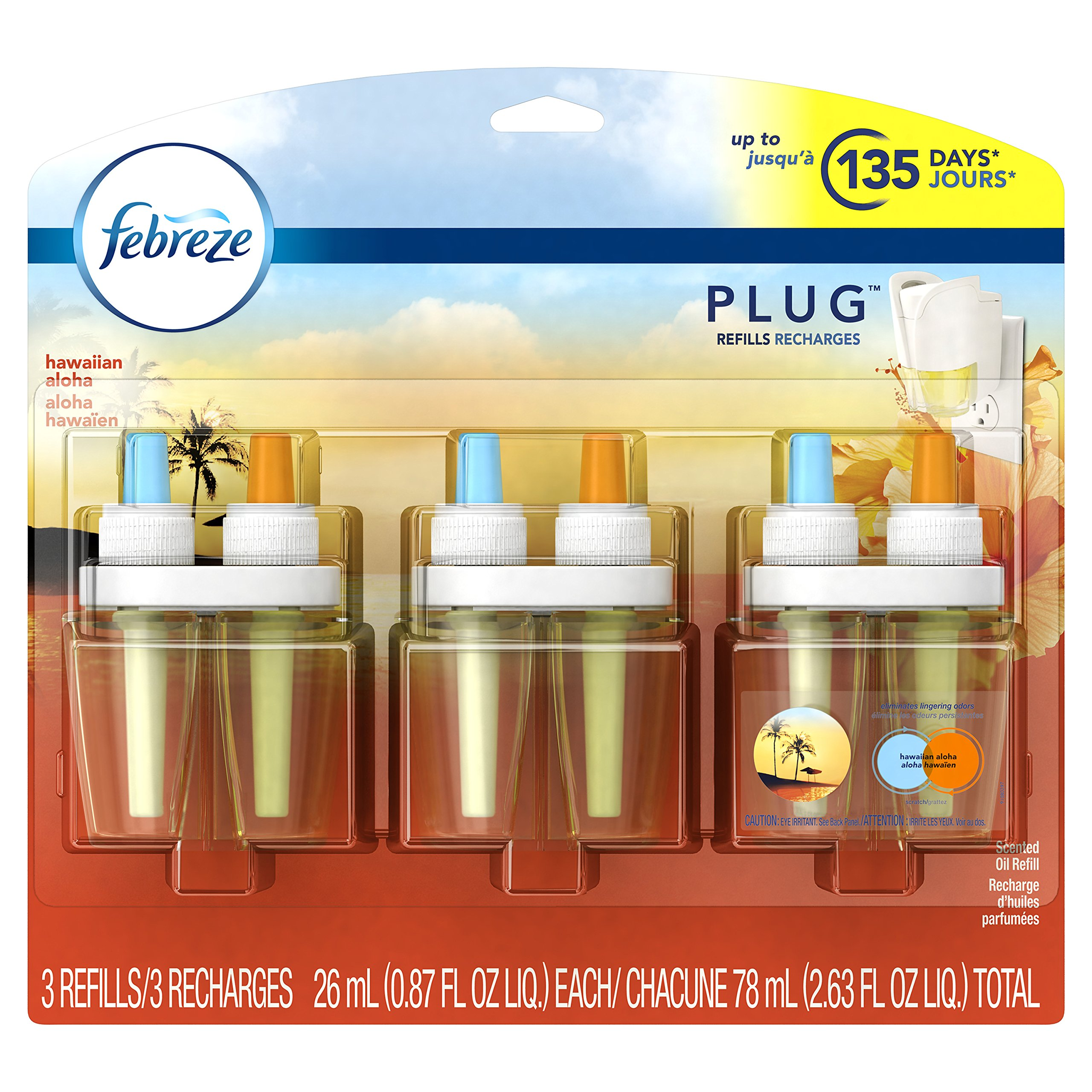 Febreze PLUG Air Freshener Refills Hawaiian Aloha (3 Count, 2.63 oz)