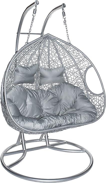 Hangstoel Zonder Frame.Estexo Hangstoel Met Frame Voor Twee Personen Polyrotan Hangmand
