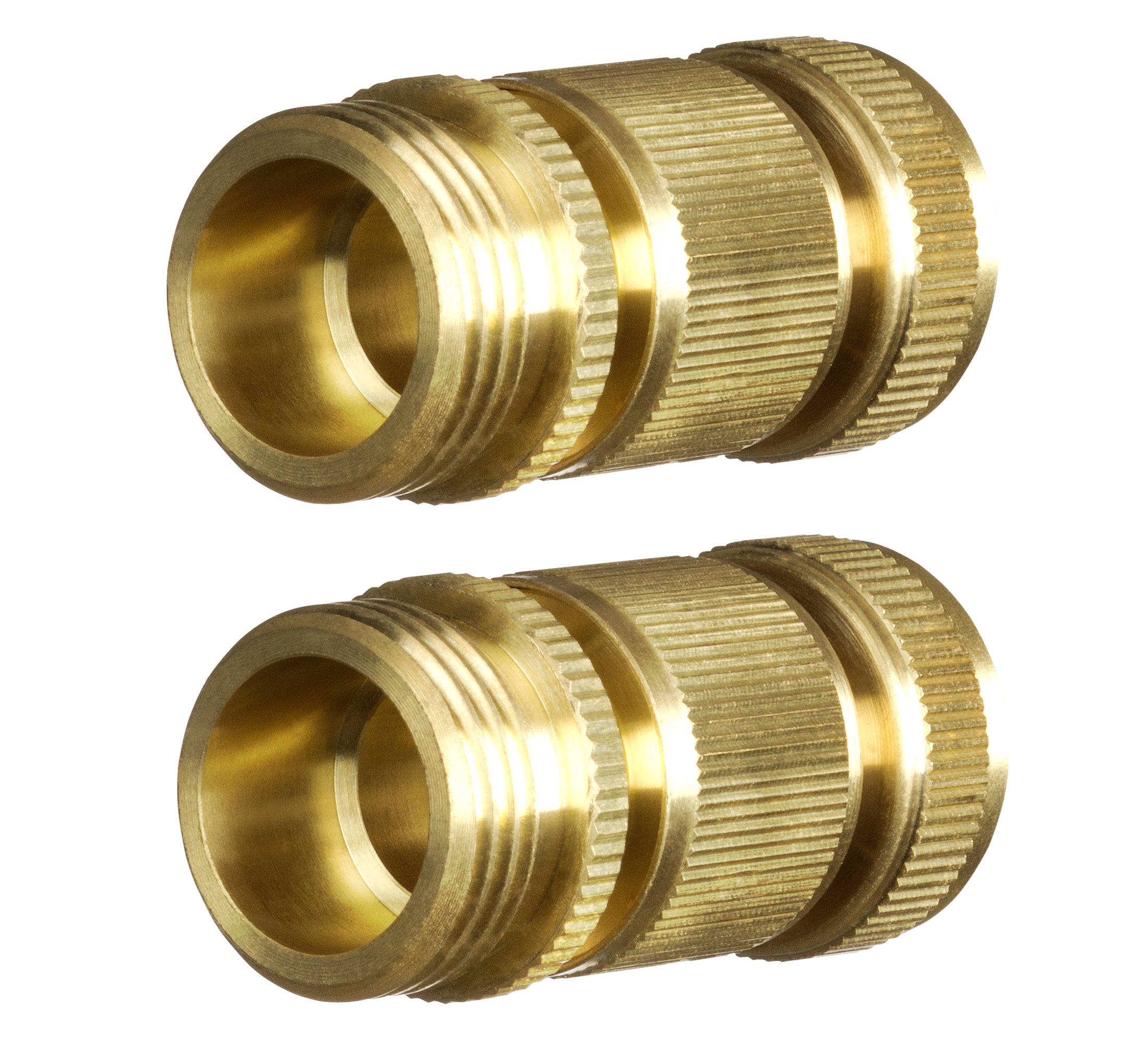 New Garden Hose Quick Connector. ¾ inch GHT Brass Easy Connect Fitting 4-Piece Set Male and Female by GORILLA EASY CONNECT (Image #2)