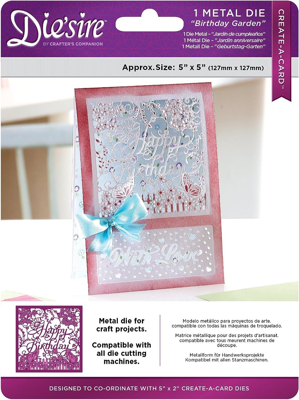 Birthday Garden Crafter/'s Companion Create a Card Die
