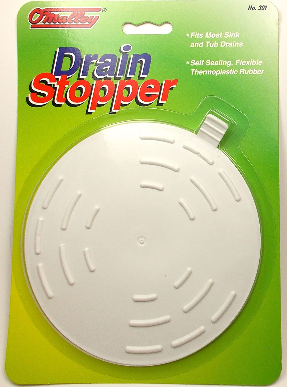 Amazon.com: Flat 5in Drain Stopper - Kitchen Sink or Bath - Non ...
