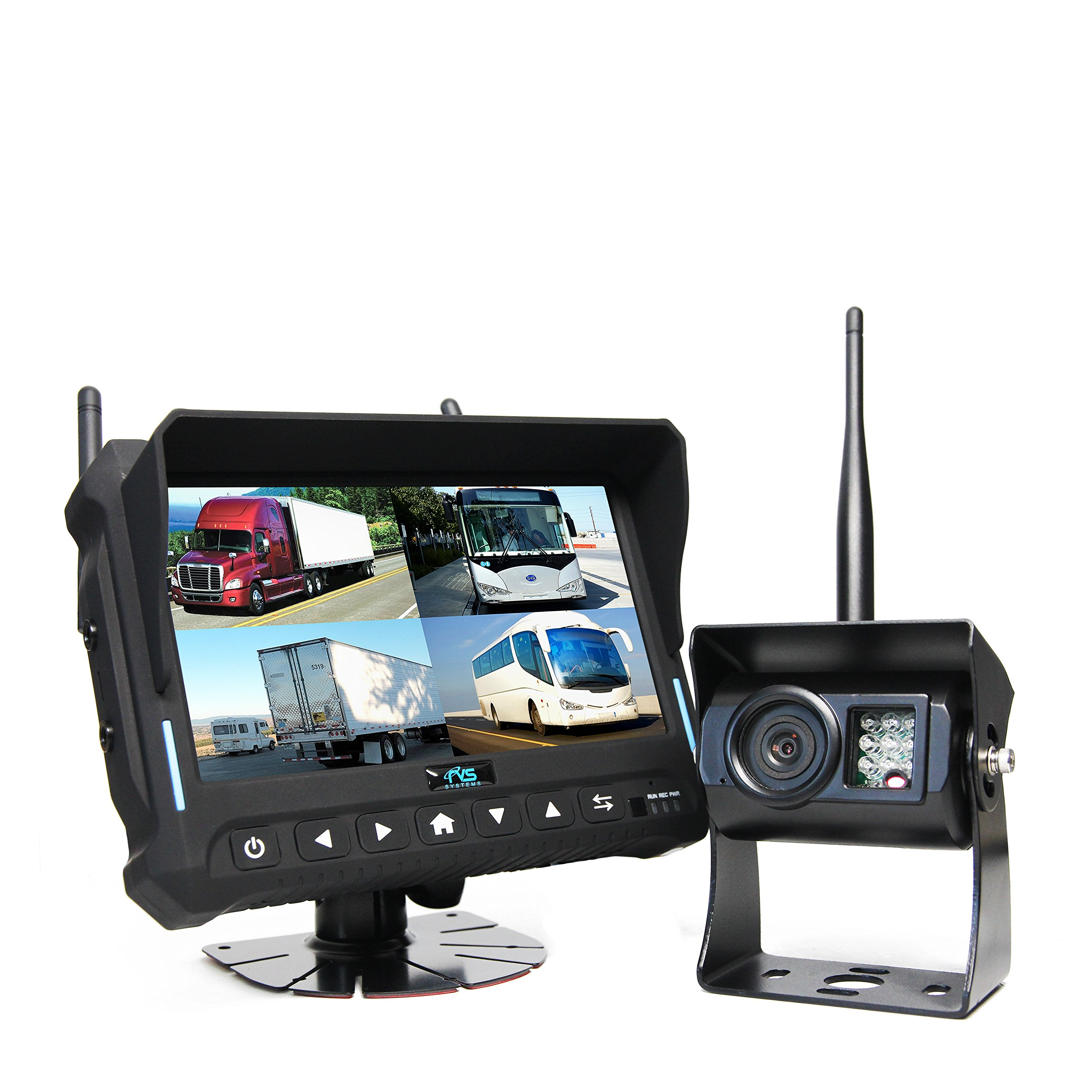 Wireless Backup Camera System (RVS-4CAM) - 7'' Quad View Display with Built-in DVR by Rear View Safety