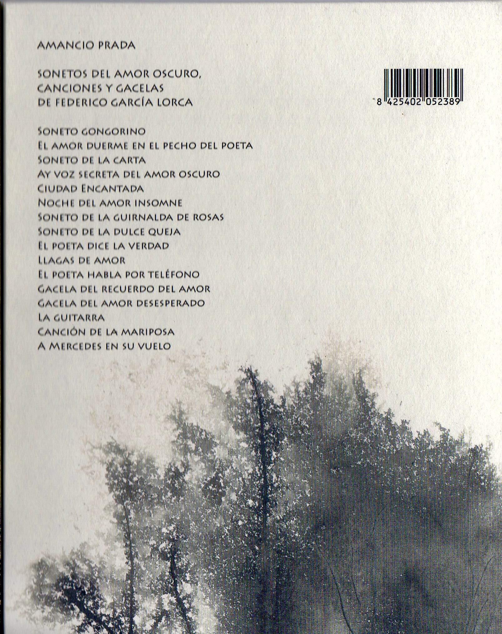 AMANCIO PRADA SONETOS DEL AMOR OSCURO: Amazon.es: Amancio Prada ...