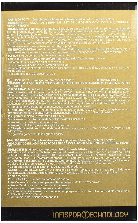 Infisport Iso Pro-T Chocolate - 1000 gr: Amazon.es: Alimentación y bebidas