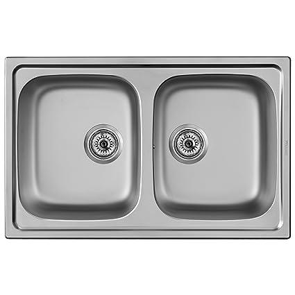 Franke 103.0205.573/ seta per lavello da cucina con ciotola doppia ...