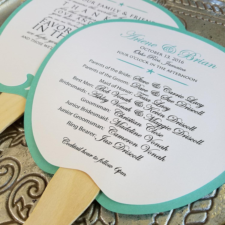 program fan beach wedding program destination wedding wedding