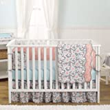 Grey Dahlia 8-In-1 Baby Girl Crib Bedding Collection by Balboa Baby
