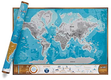 Scratch discover 7 wonders map a1 high quality scratch off world scratch discover 7 wonders map a1 high quality scratch off world map with gumiabroncs Image collections