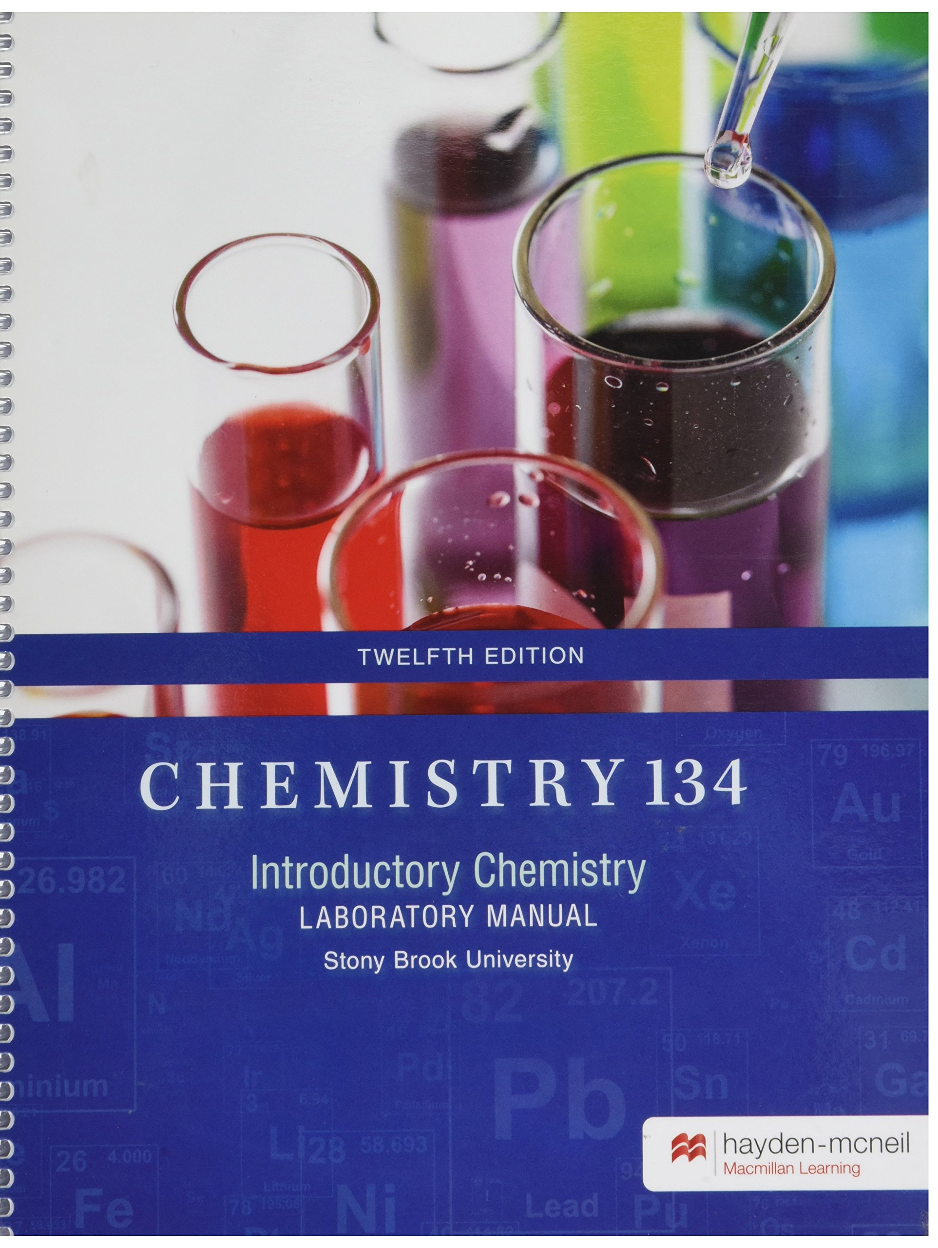 Chemistry 134 Lab Manual: Hayden-McNeil: 9780738089959: Amazon.com: Books