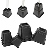 UPP Bed- en meubelverhoging 3 in 1 I zwart I hoogwaardige en verstelbare tafel-, bed-, stoel-, sofa-, enz. Verhoging I 4…